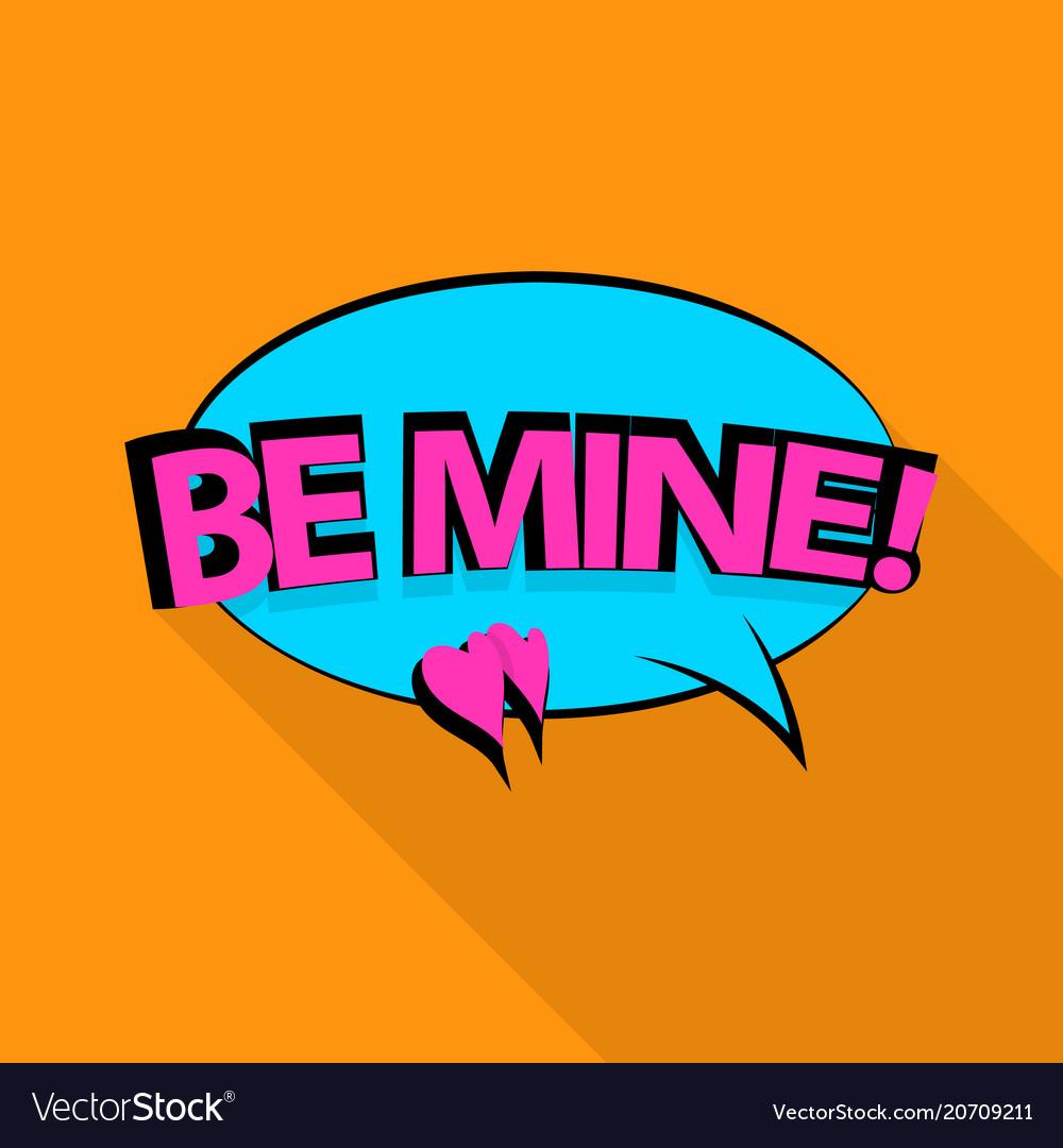 Be mine icon pop art style
