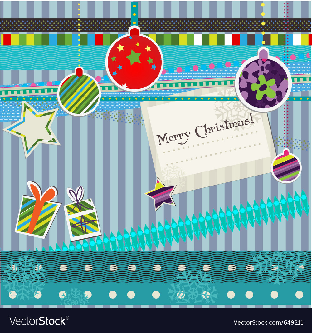 Christmas craft vector image