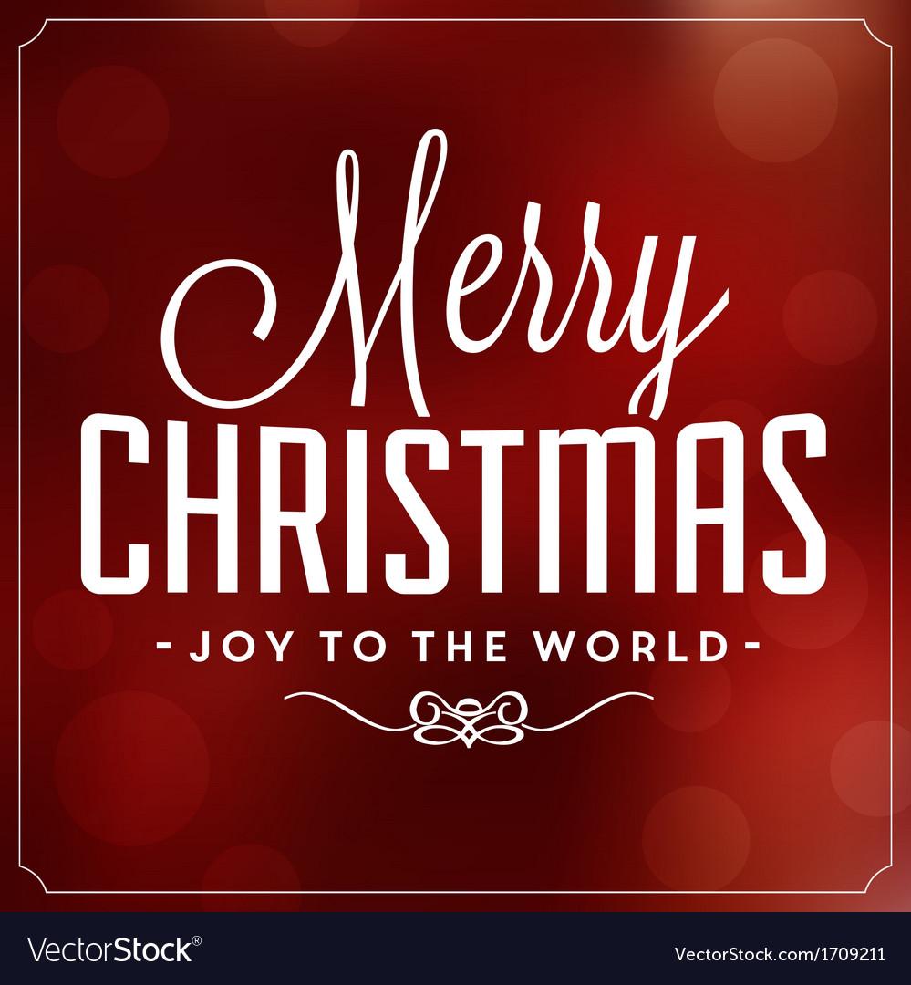 Christmas Typographic Background Merry Christmas