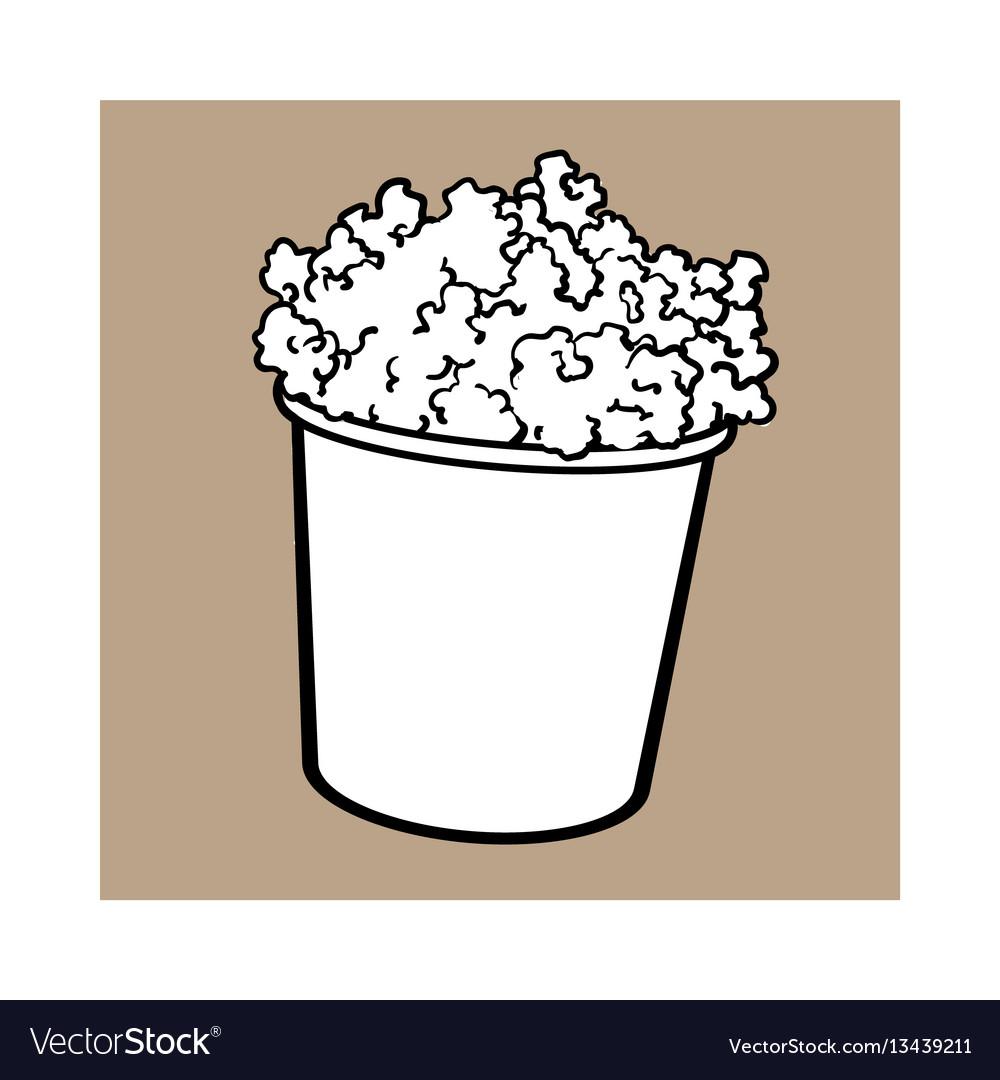 Cinema popcorn in a big black and white striped