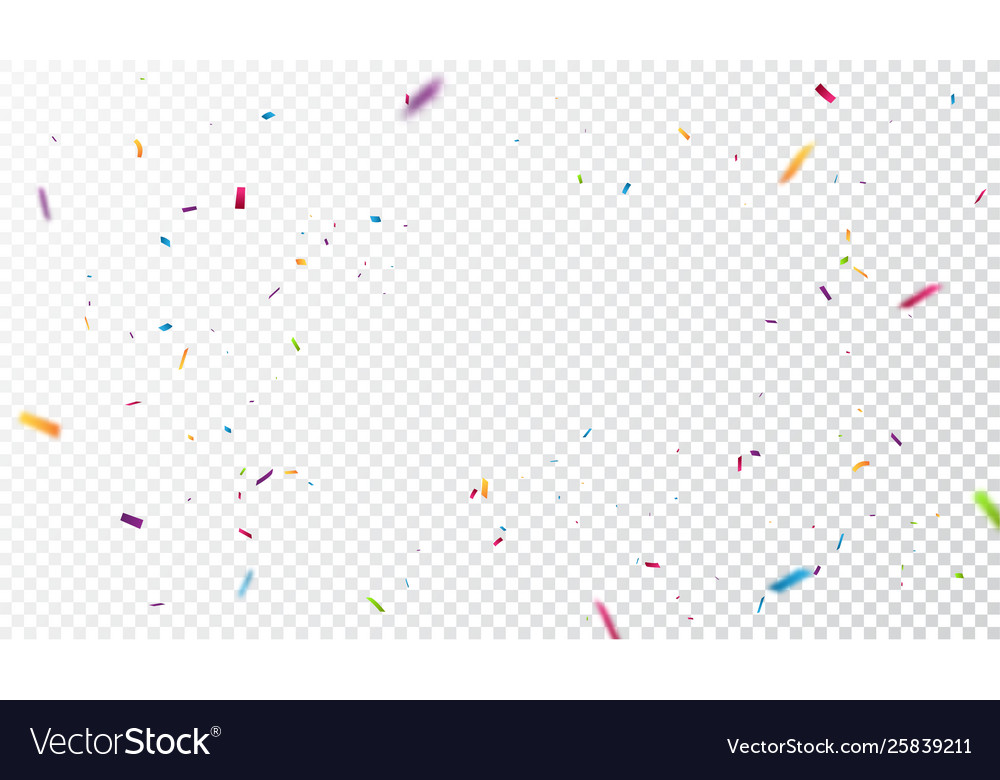 Colorful Confetti On Transparent Background Vector Image Thanks to the transparent backgrounds, dragging and dropping the confetti onto your canvas is simple. colorful confetti on transparent background vector image