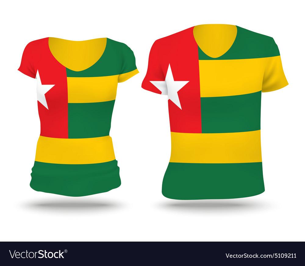 Flag shirt design of Togo vector image