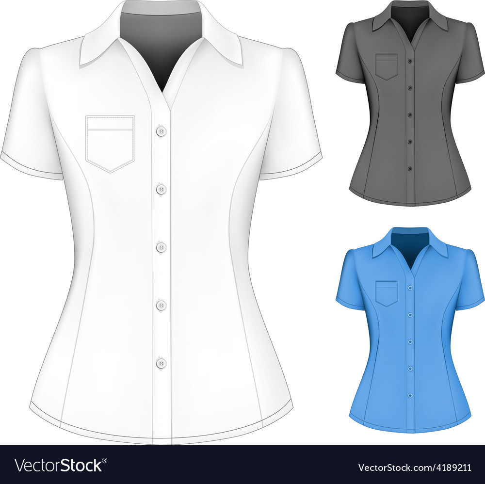 430bd0e6ca3123 Formal short sleeved blouses for lady Royalty Free Vector