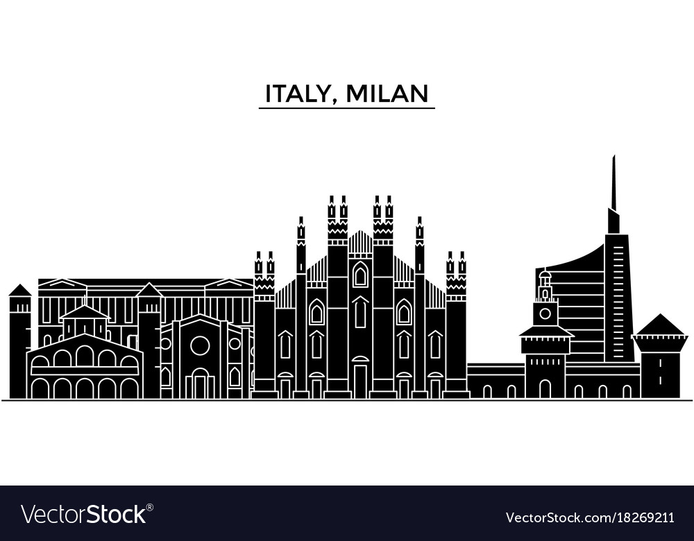 Italy milan architecture city skyline