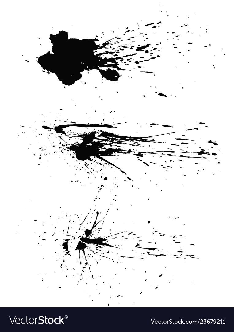 Paint splats blotches isolated on white background