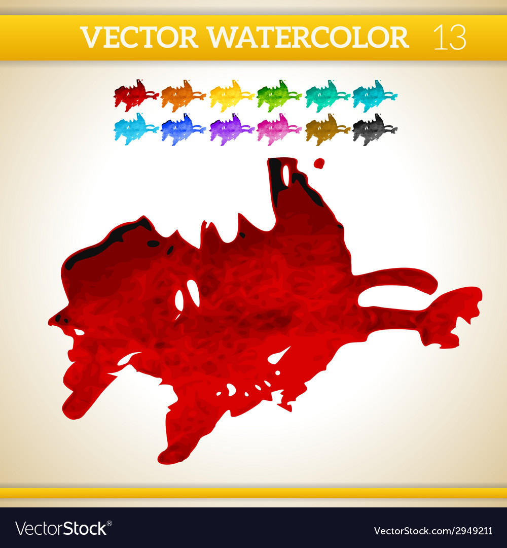 Red Watercolor Artistic Splash for Design and