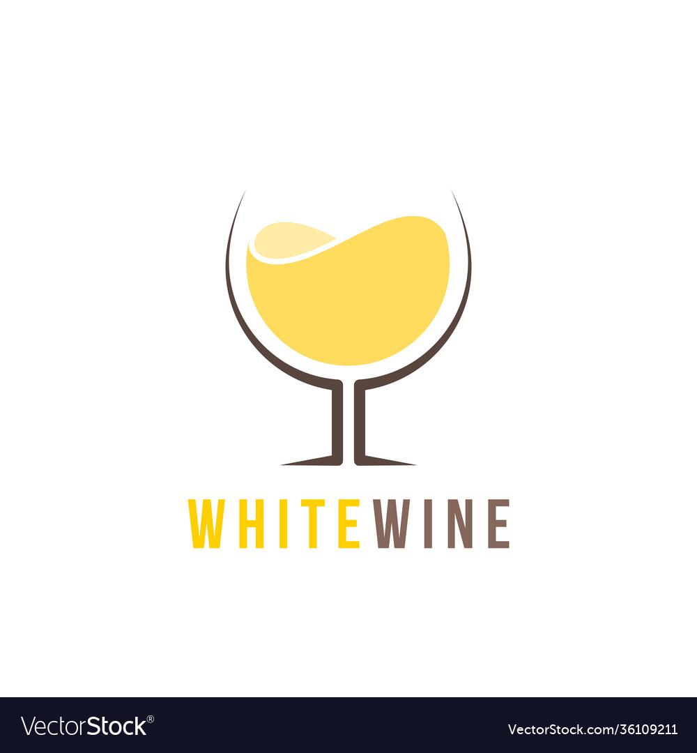 White wine logo template