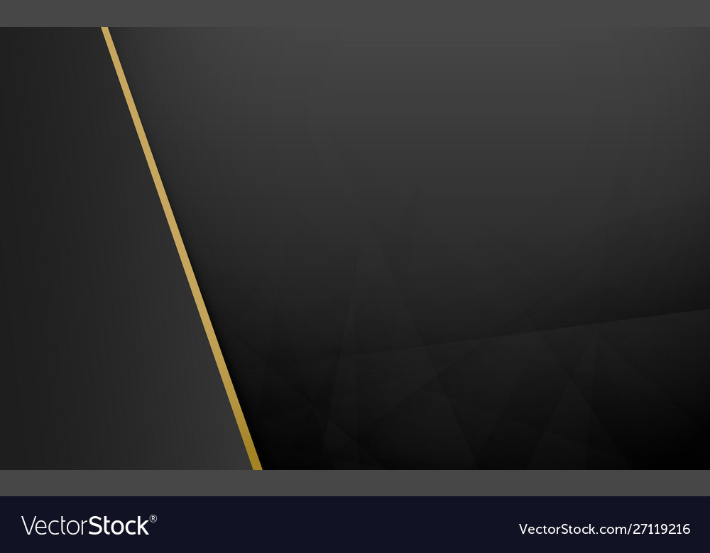 Abstract black and gold geometric background