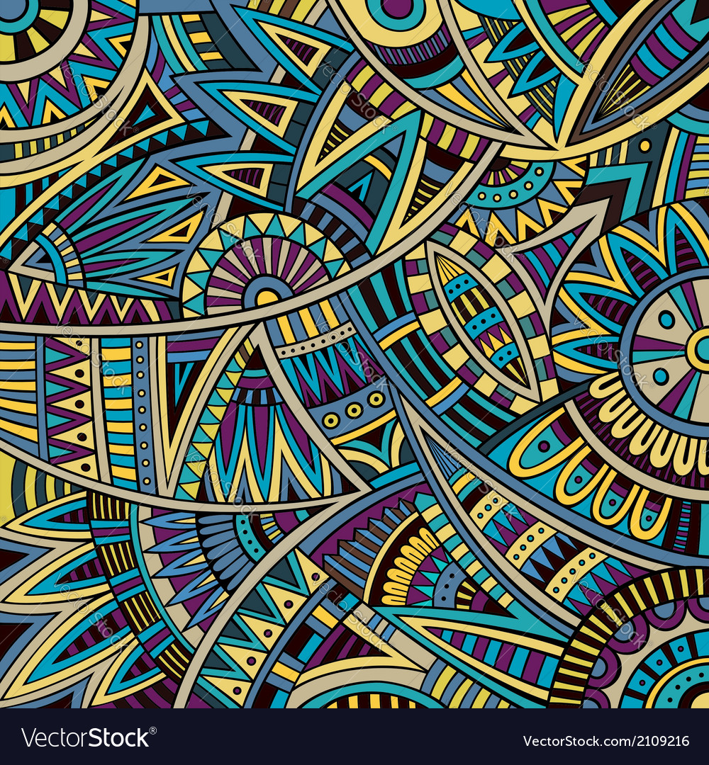 Abstract tribal ethnic background pattern vector image