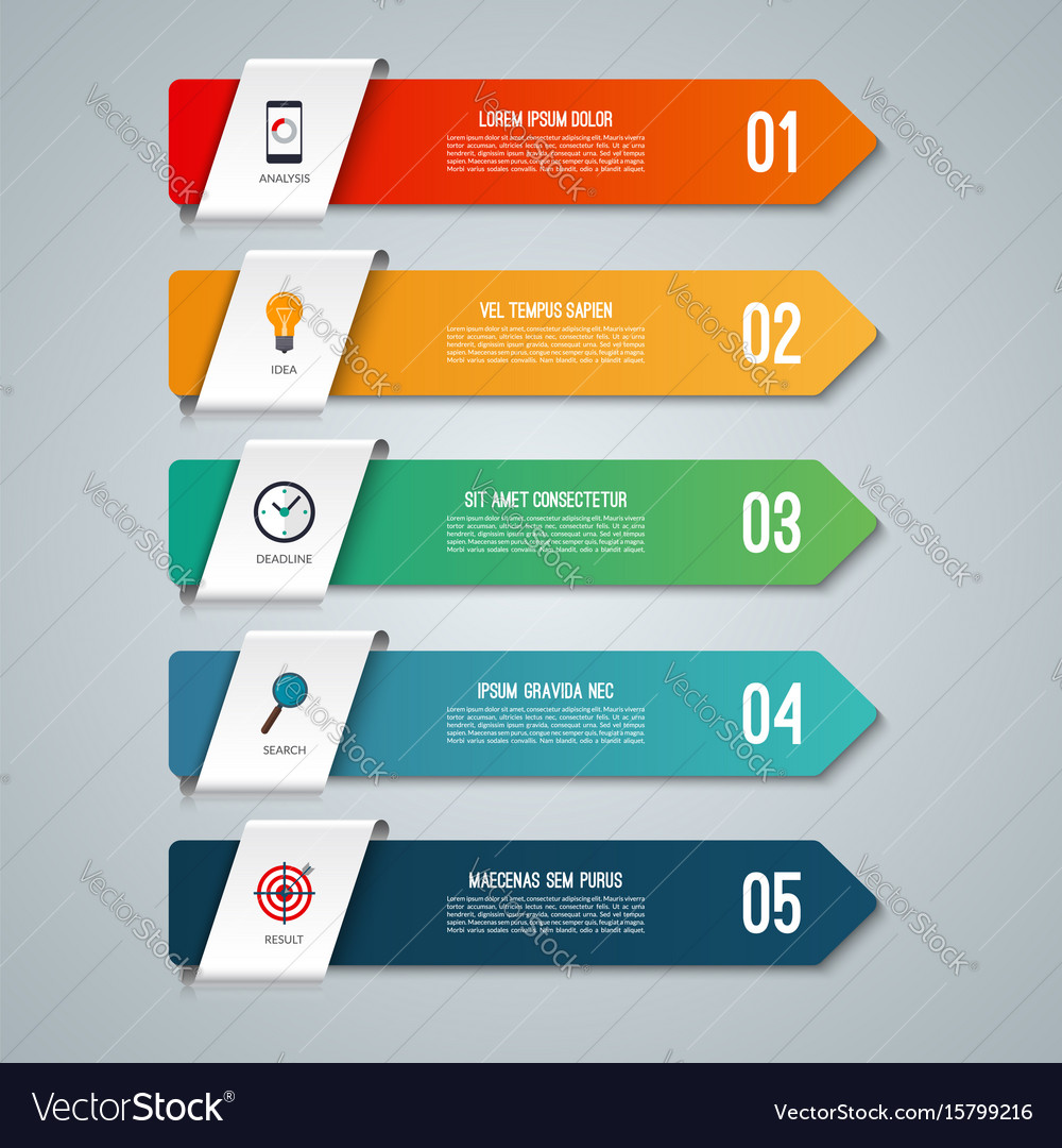 Arrow infographic concept with 5 options
