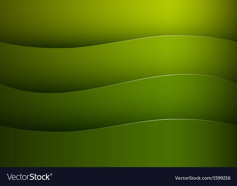 Background green stripe wave vector image