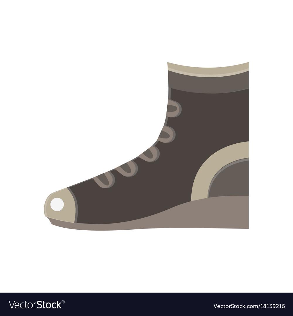Boots flat icon design elegance sport fashion