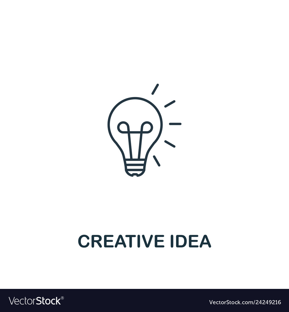 Creative idea icon thin outline style design from