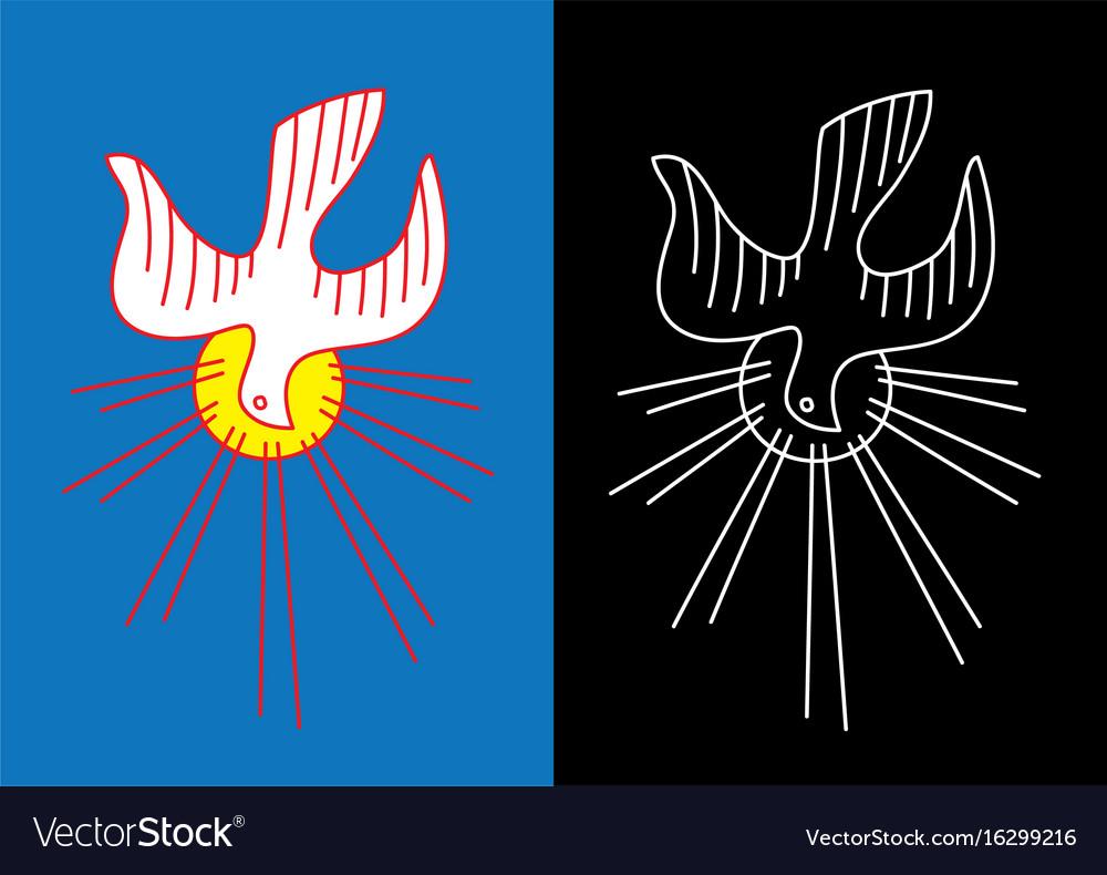 Dove holyspirit line art