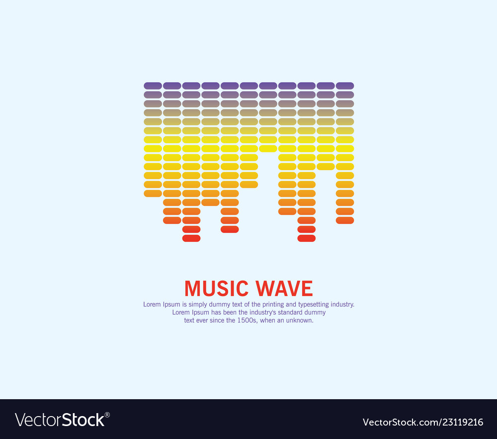 Music colorful wave logo equalizer element