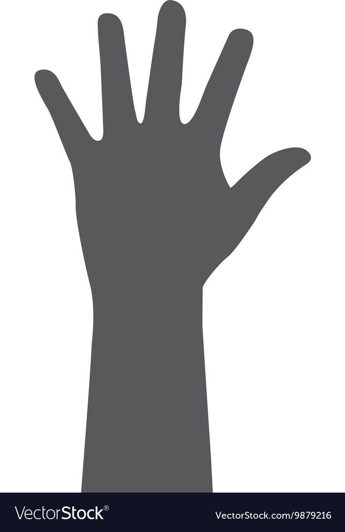 Open hand silhouette design vector image