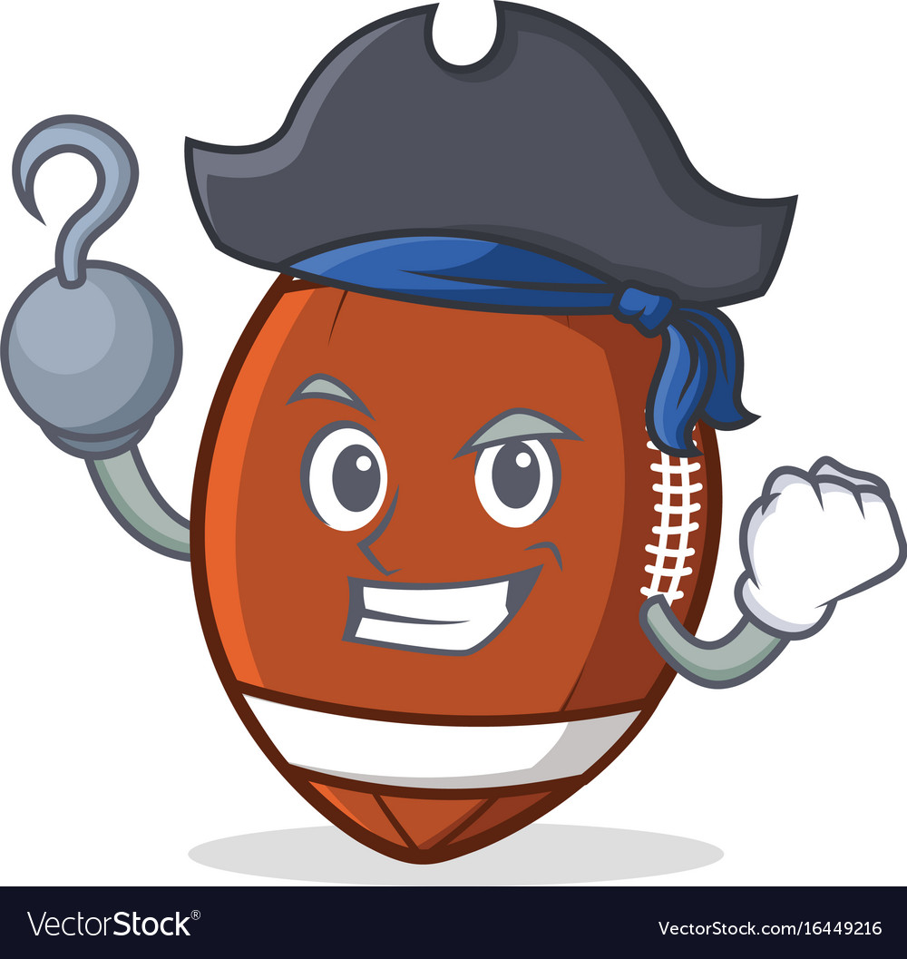 Pirate american football character cartoon