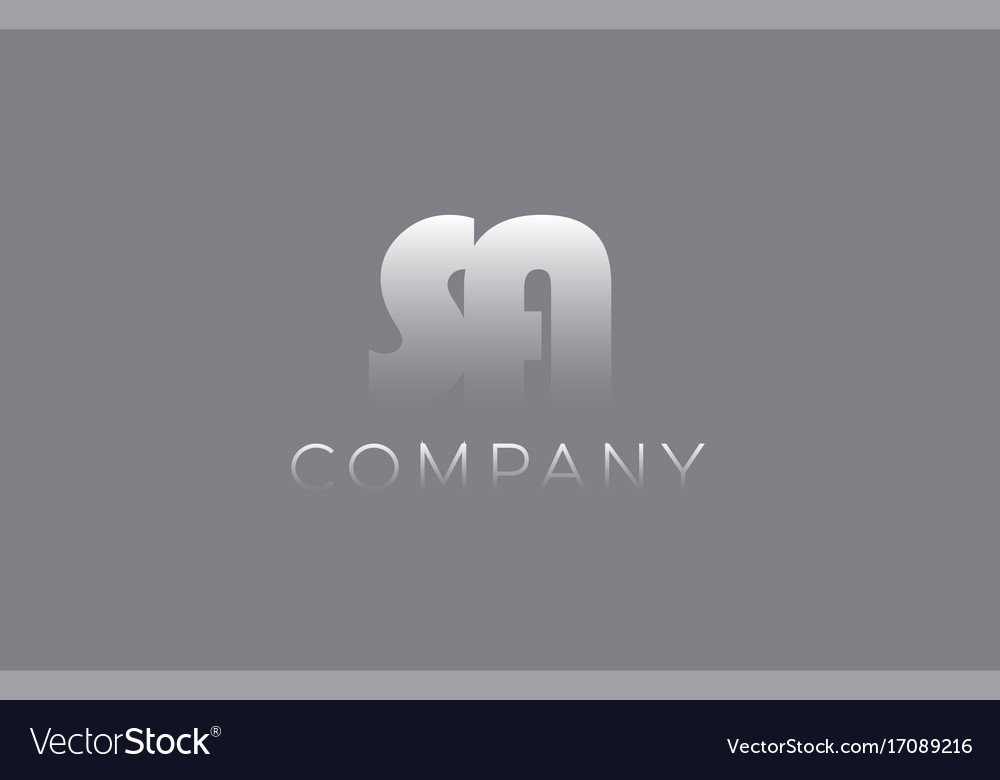 Sa s a pastel blue letter combination logo icon vector image