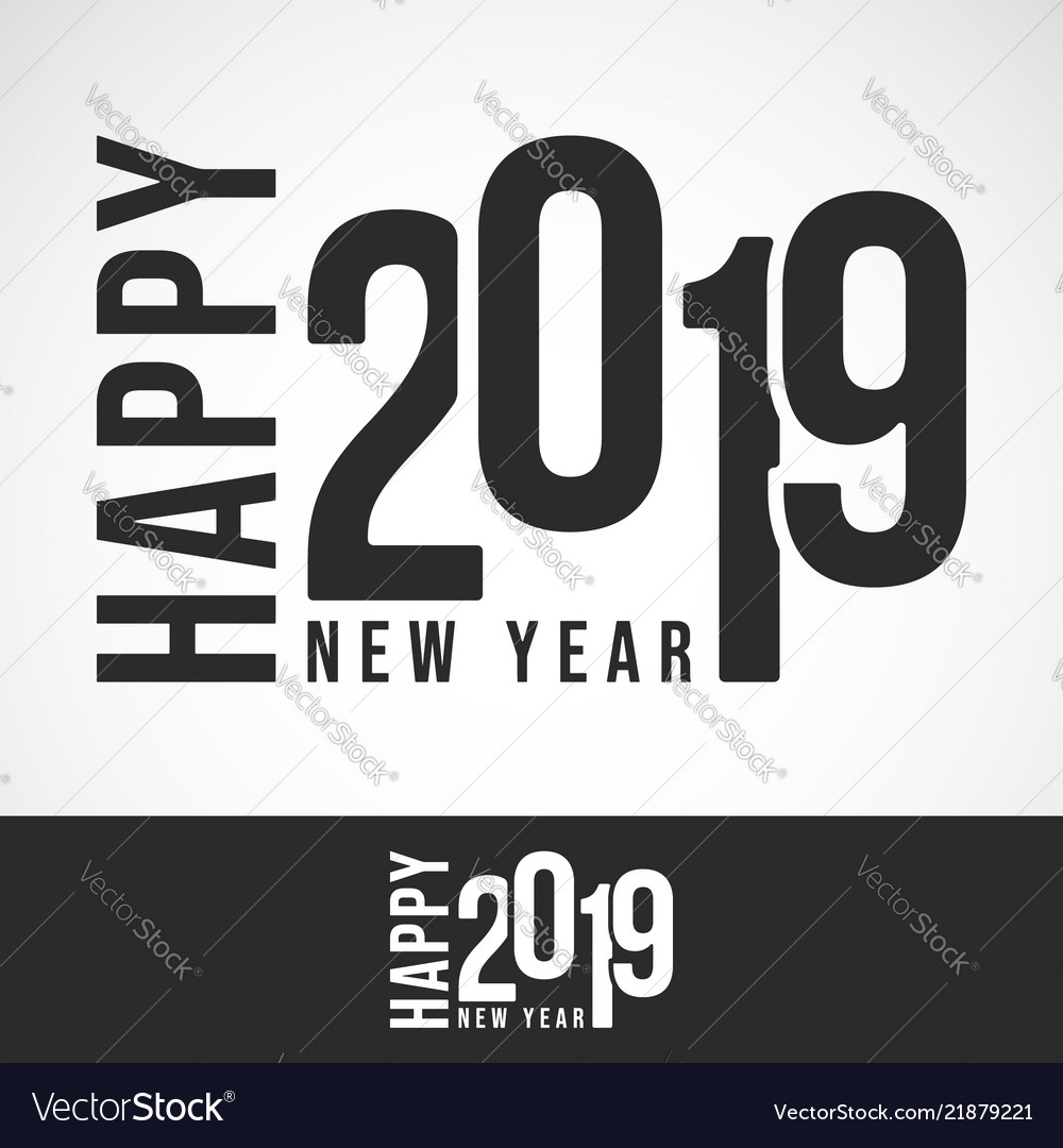 2019 happy new year design for printing products