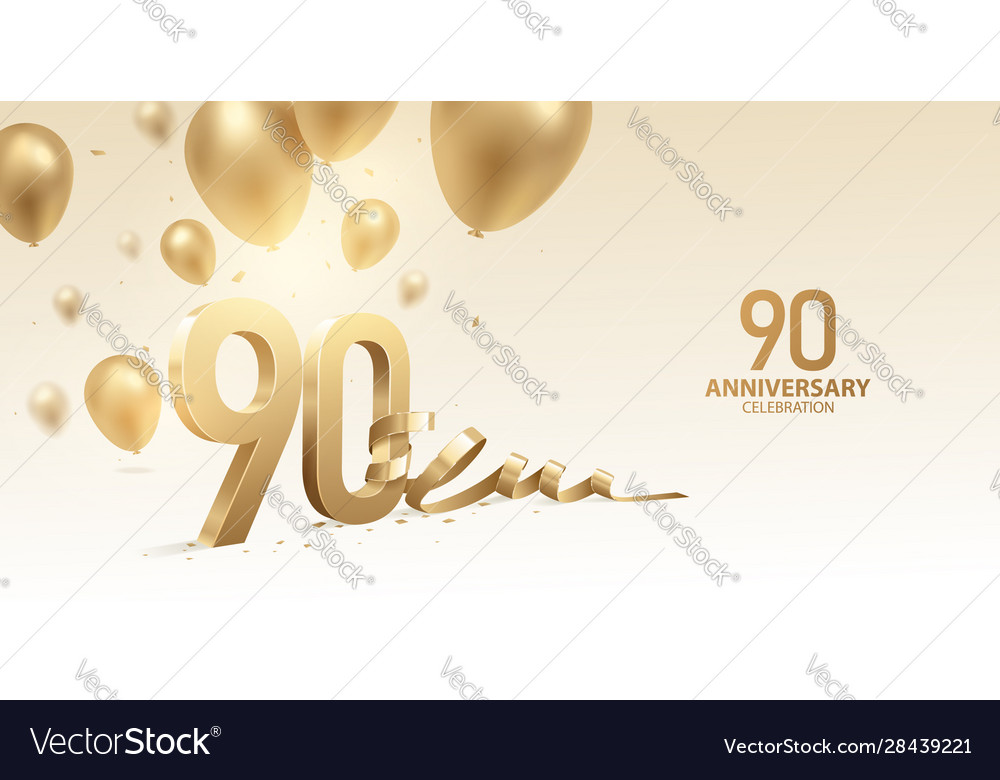 90th anniversary celebration background