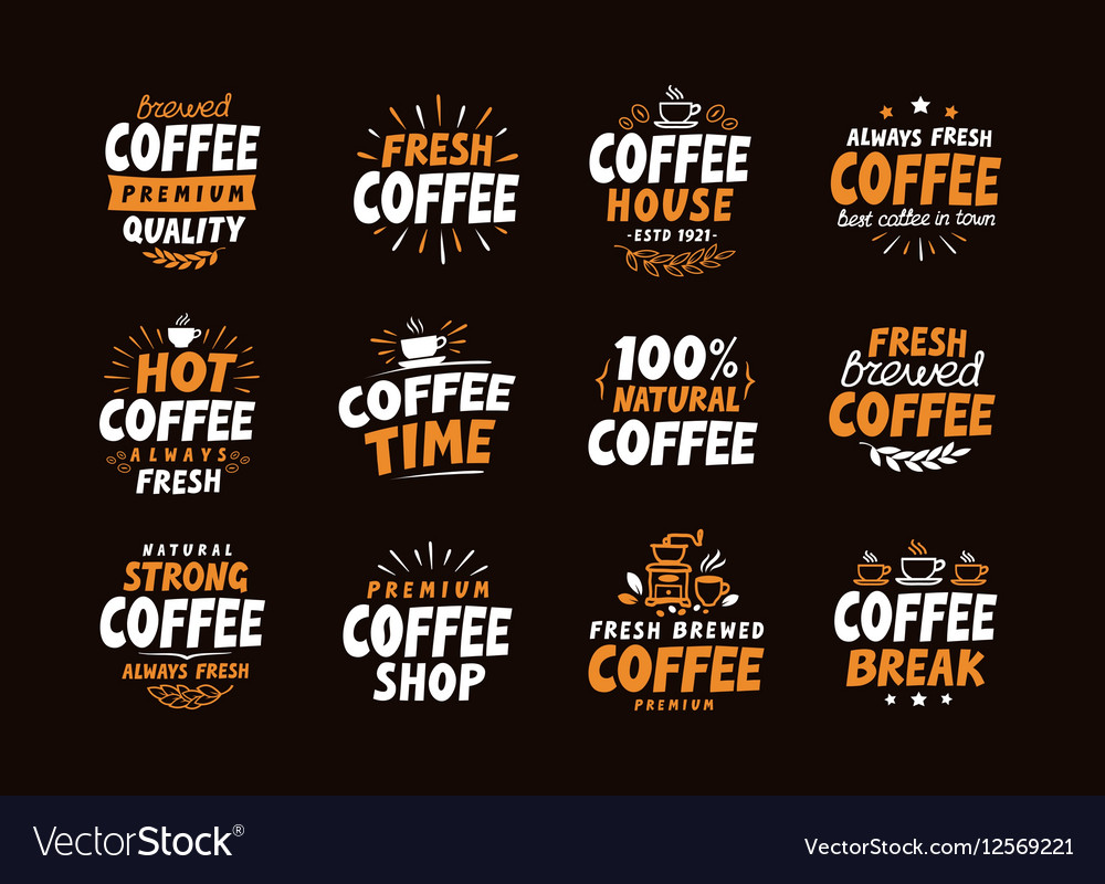 Coffee logo labels and icons Collection