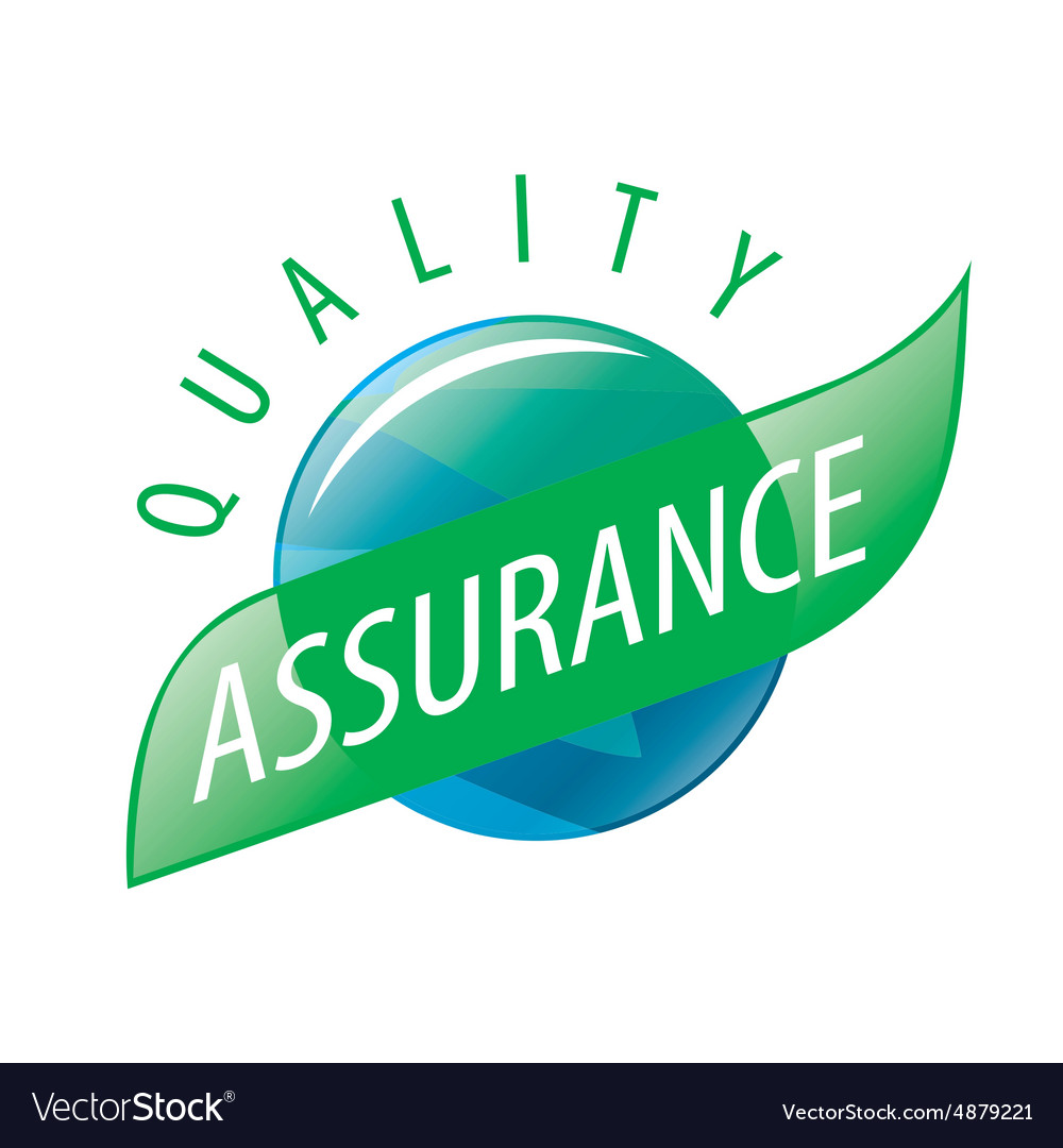 Round Logo Quality Assurance Royalty Free Vector Image