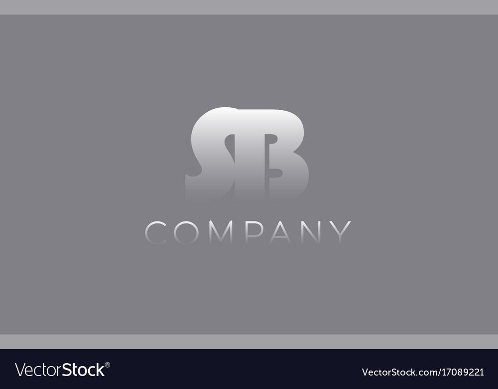Sb s b pastel blue letter combination logo icon