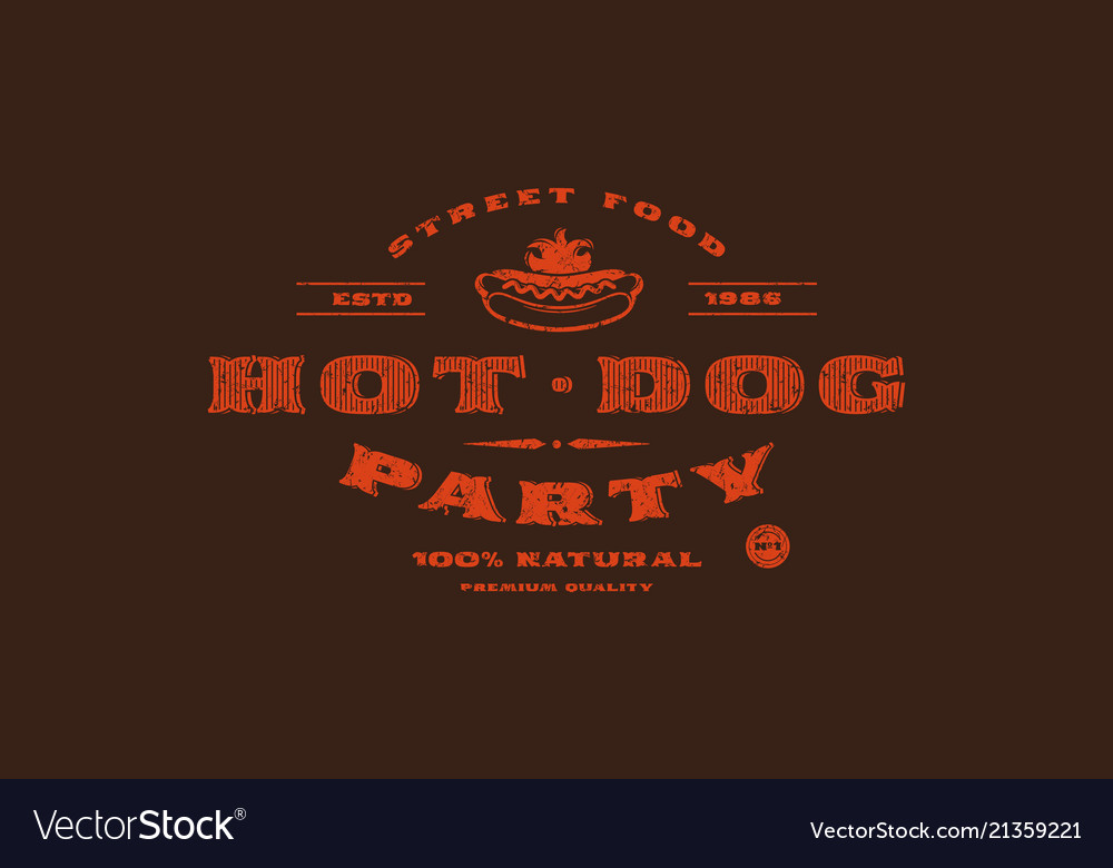 Stock template of hot dog label