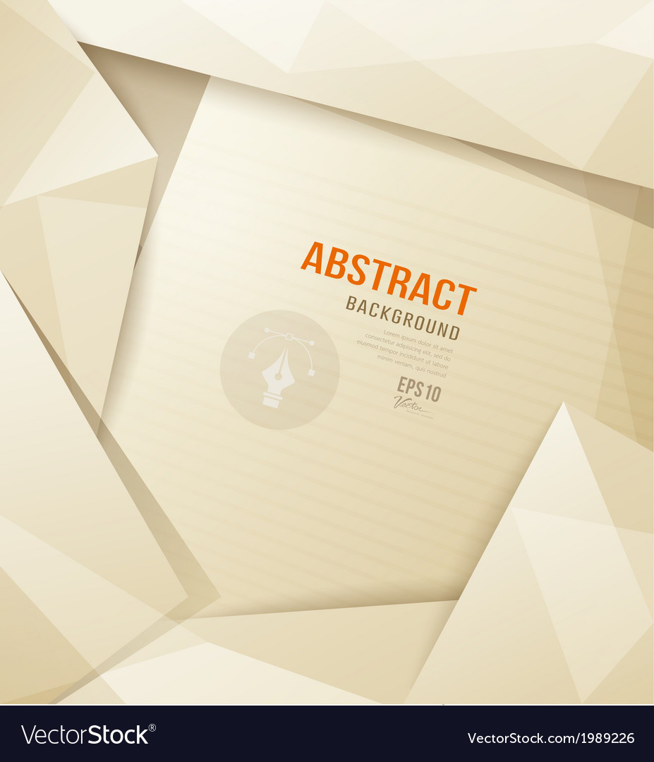 Abstract Origami paper sepia geometric template vector image