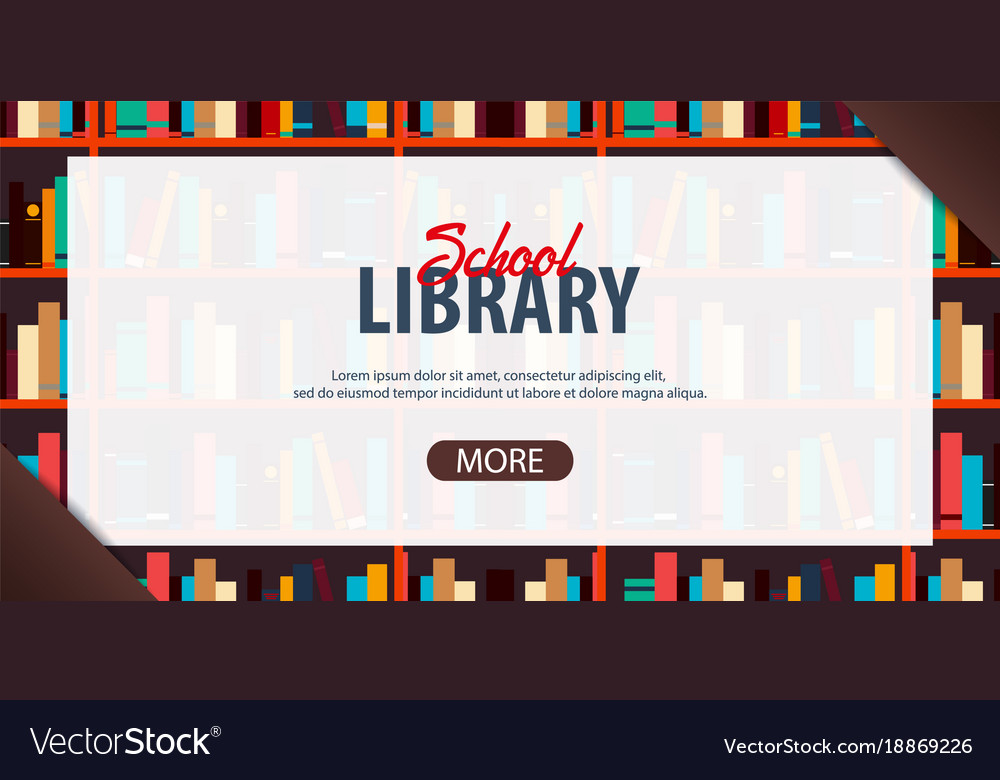 School Library Banners Fractal Banners