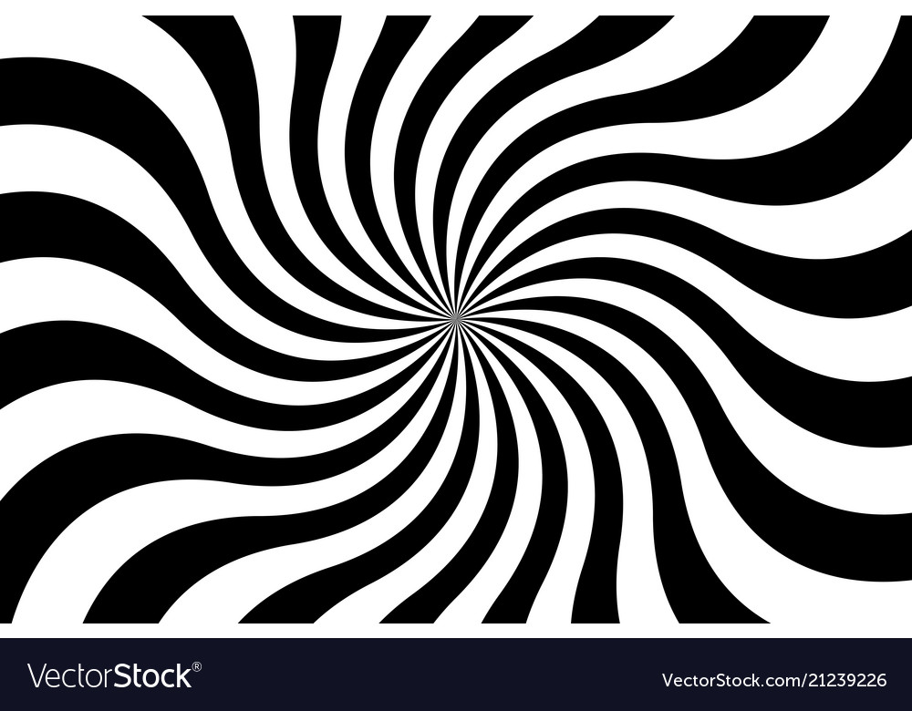 Black and white spiral background swirling radial Vector Image