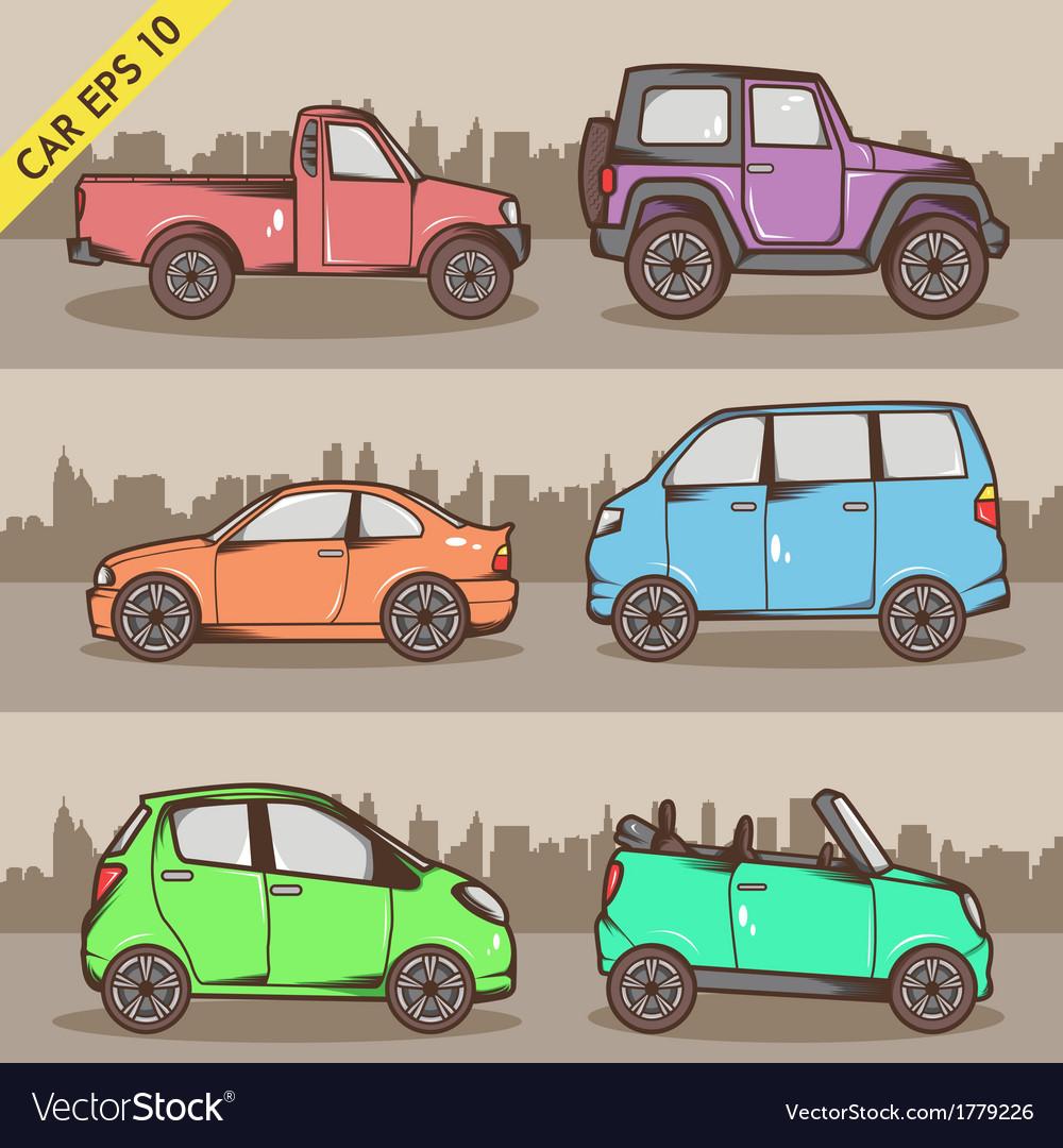 Cartoon Car Set 2