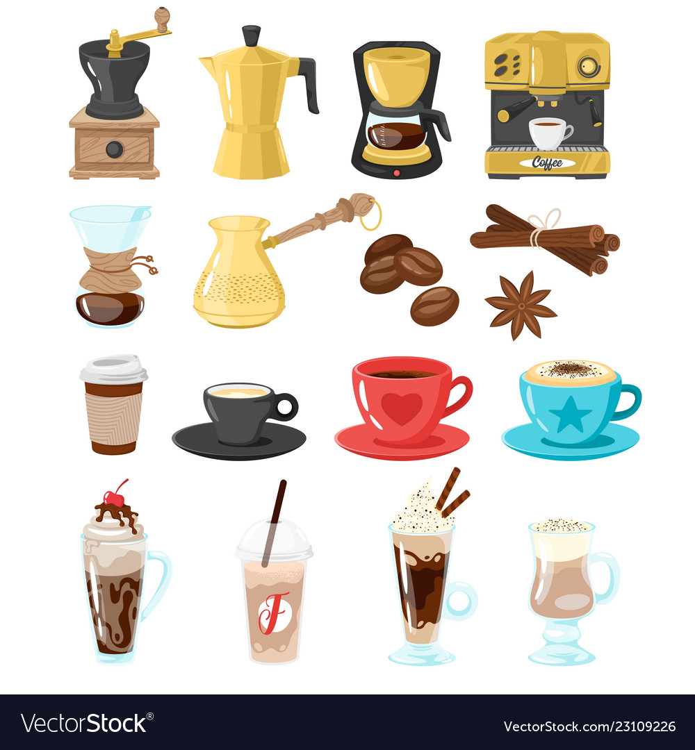 Coffee shop set of icons