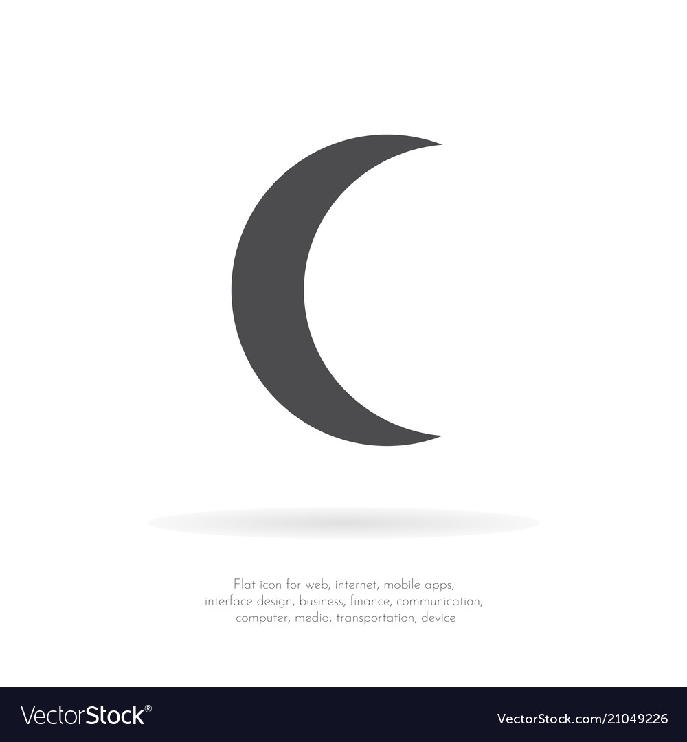 crescent moon royalty free vector image vectorstock vectorstock