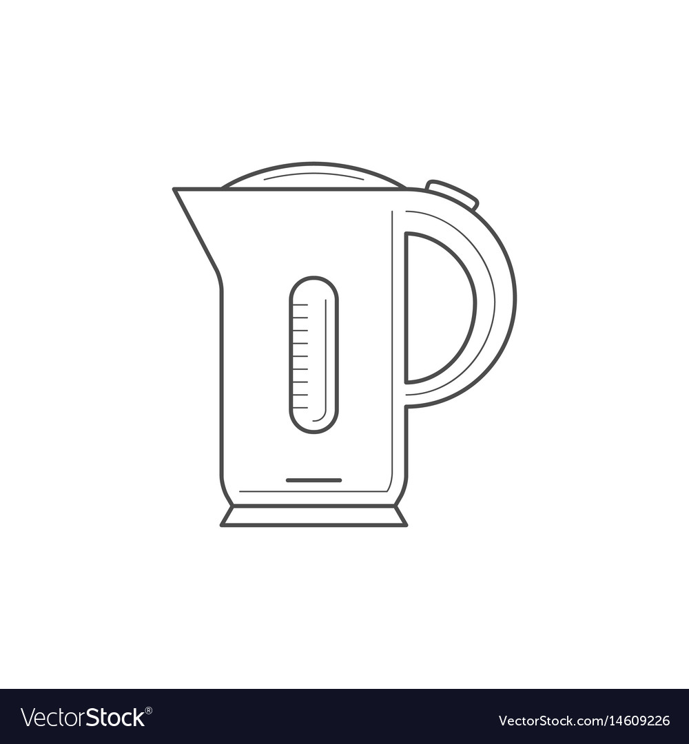 Kettle outline thin line icon