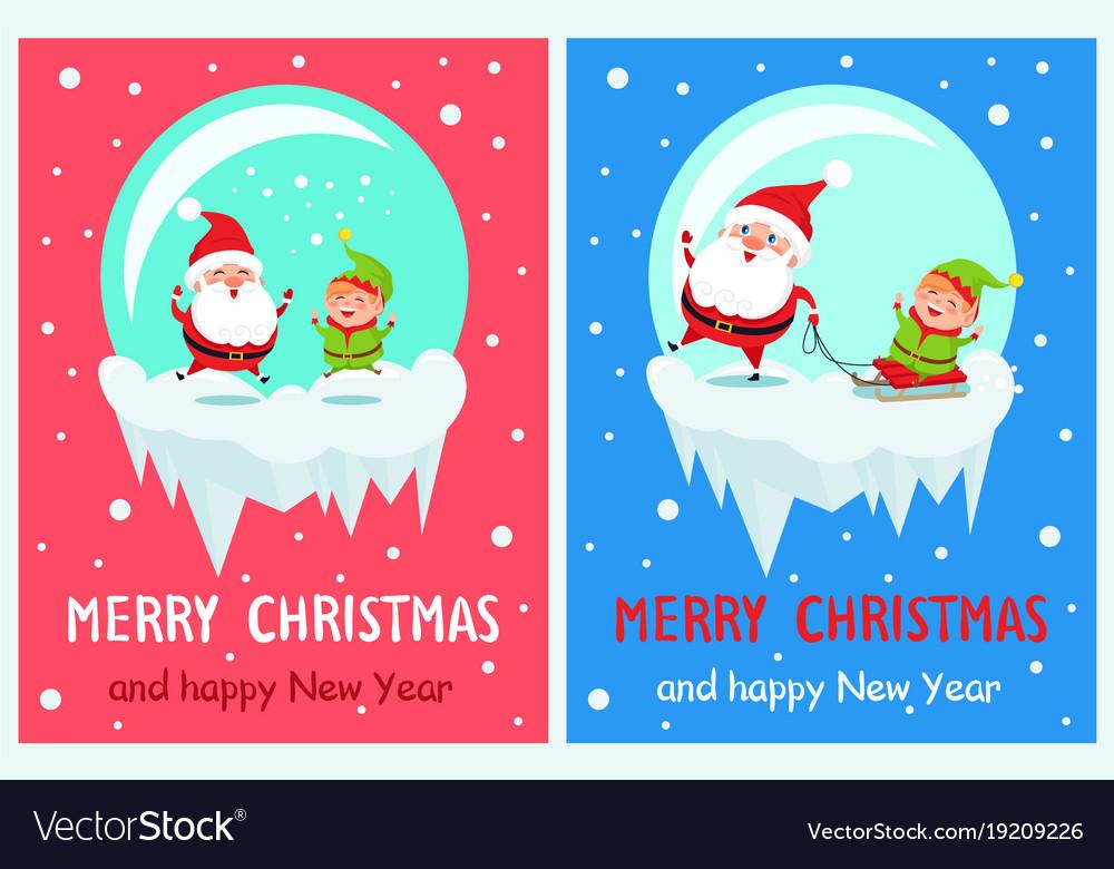 Merry christmas jumping santa