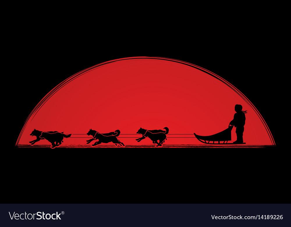 Sled dog graphic