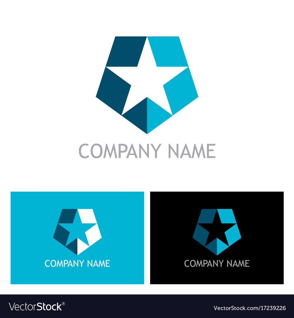 Star shape shield logo