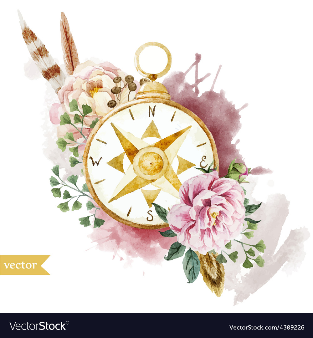 a0778d4ab Watercolor, Nautical & Compass Vector Images (32)