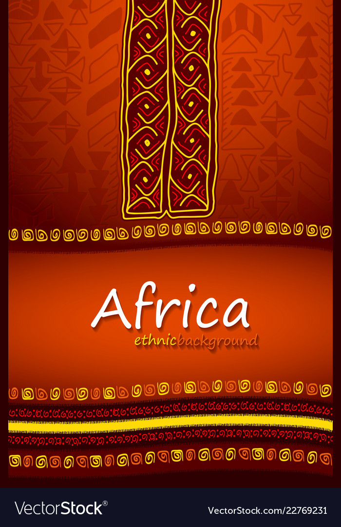 African or aztec hand-drawn ethnic background