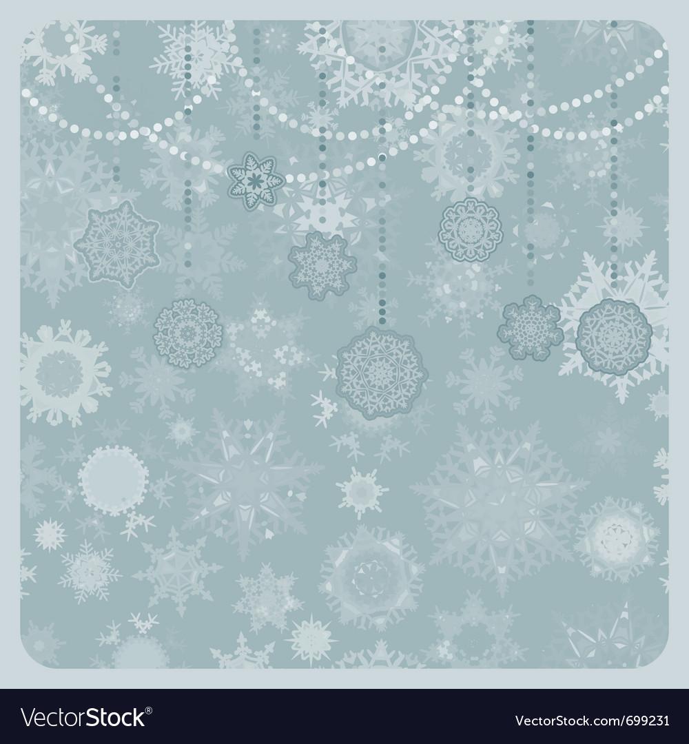 Christmas snowflake background vector image