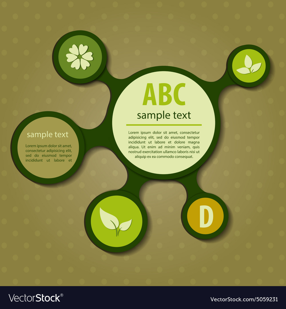 Modern green ecology Design vector image