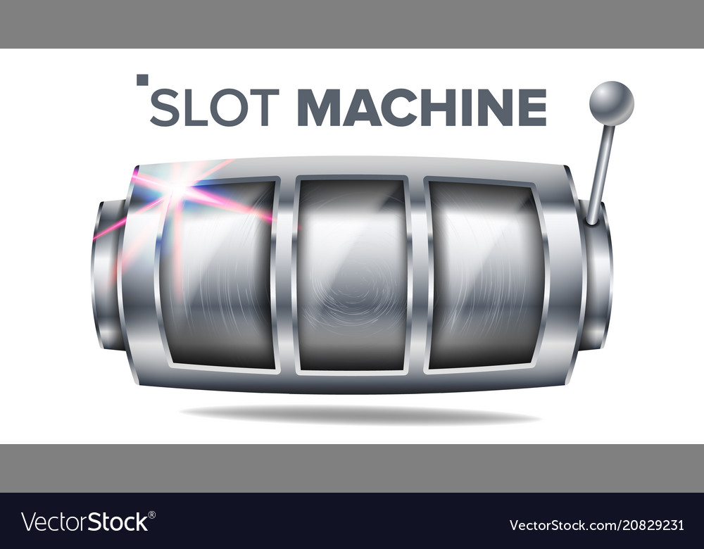 Slot machine silver lucky empty slot big