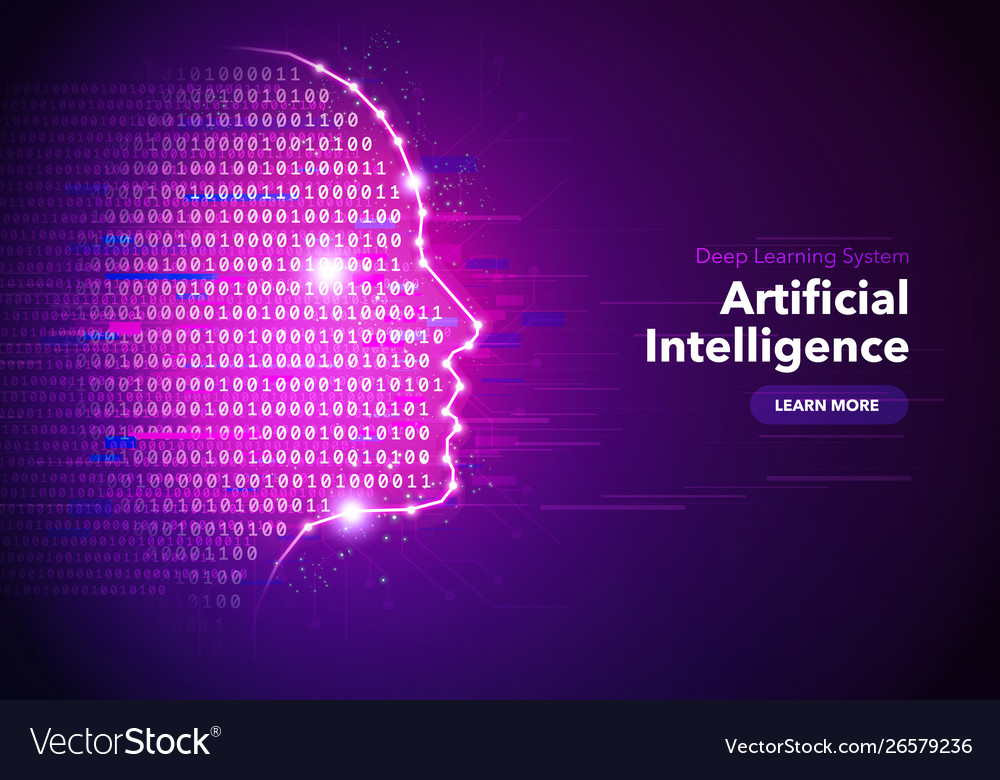 Artificial intelligence concept banner design