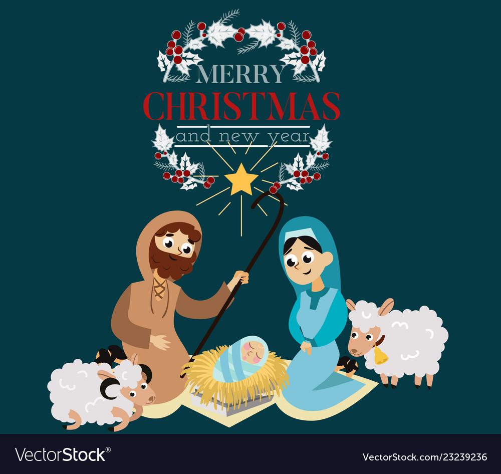 Christmas nativity religious bethlehem crib scene