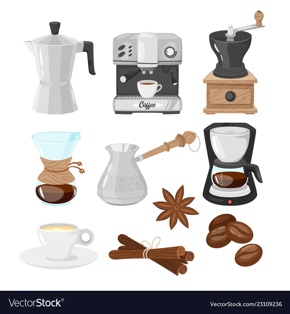 Coffee makers icons