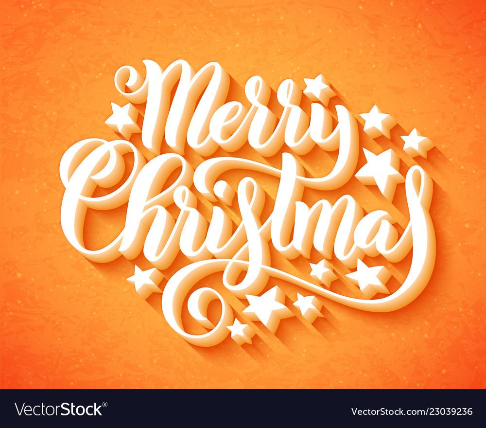 Merry christmas handwritten lettering lettering