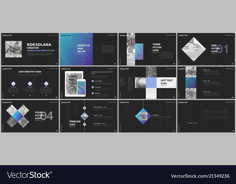 Minimal presentations design portfolio Royalty Free Vector