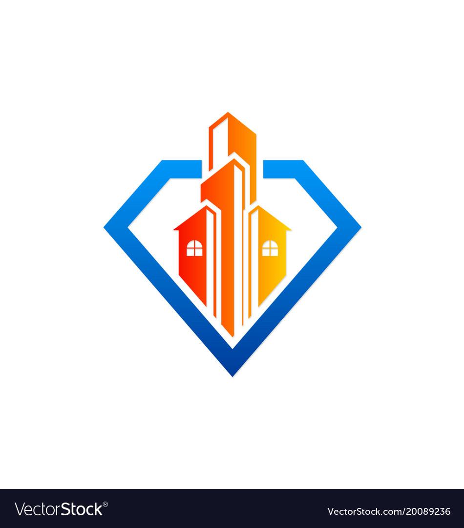 Modern building architecture business logo