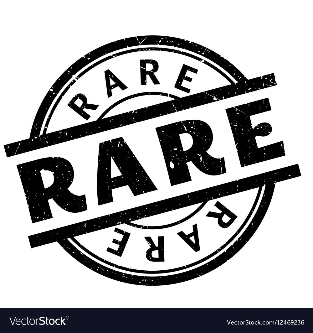 Rare rubber stamp vector image